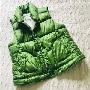 Old Navy green puff vest